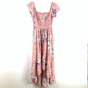 Xhilaration Floral Pink Dress S #D1-102